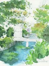 小川の水中花下塗り1.jpg