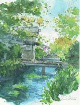 小川の水中花下塗り2.jpg